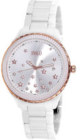 Jivago Womens Sky White & Silver Bracelet Watch