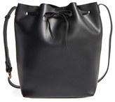 Sole Society 'Blackwood' Faux Leather Bucket Bag - Black