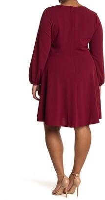 Tash + Sophie Keyhole Long Sleeve Scuba Dress