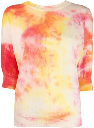 MSGM Tie-Dye Knitted Top