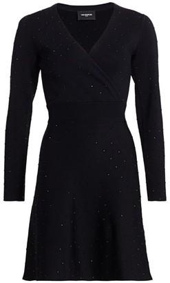 The Kooples Studded Surplice Knit Dress