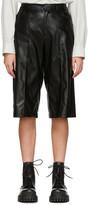 Aeron SSENSE Exclusive Black Faux-Leather Helen Shorts