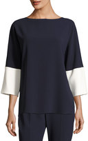 Max Mara 3/4-Sleeve Colorblock Tunic