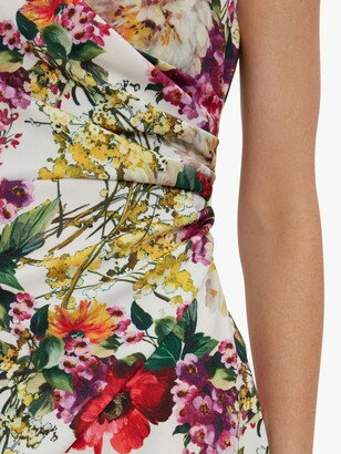 Gina Bacconi Karesa Flora Wrap Knee Length Dress, Multi