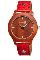 Earth Wood Tannins Red Leather-Band Watch Ethew1303