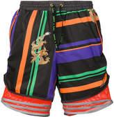 adidas clash print drawstring shorts