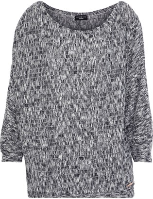 Pepper & Mayne Grace Marled Ribbed-knit Sweater