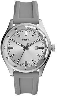 Fossil Belmar Three-Hand Gray Silicone Watch