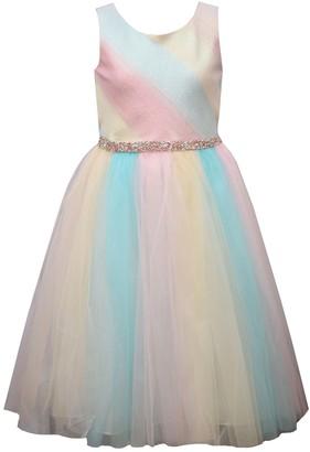 Bonnie Jean Girls 4-6x Metallic Ombre Dress