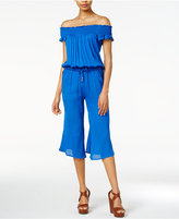 BB Dakota Cropped Off-The-Shoulder Jumpsuit
