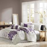 Madison Park Lola Comforter Set California King Gray/Purple