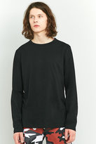 Uo Long-sleeve Black Crewneck T-shirt