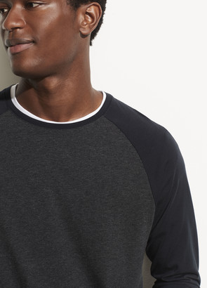Vince Long Sleeve Color Block Crew