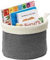 mDesign Knit Baby Nursery Closet Organizer, Bin for Stuffed Animals, Toys, Books - Small, Gray/Ivory