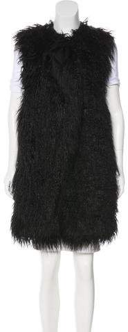 Theory Faux Fur Sleeveless Vest