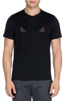 Fendi Studded Eyes Short-Sleeve Tee, Black