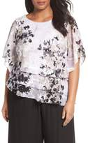 Alex Evenings Tiered Chiffon Top