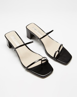 Sol Sana Women's Black Mid-low heels - Kenny Mules - Size 37 at The Iconic