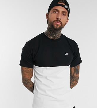 Vans color block t-shirt in black/cream Exclusive at ASOS