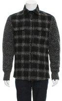 Michael Kors Wool Plaid Panel Jacket