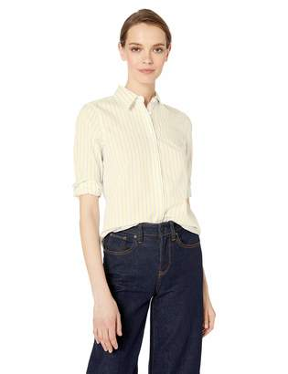 Chaps Women's 3/4 Sleeve Non Iron Broadcloth Shirt