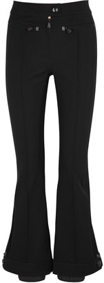 Moncler Black Flared Stretch-twill Trousers