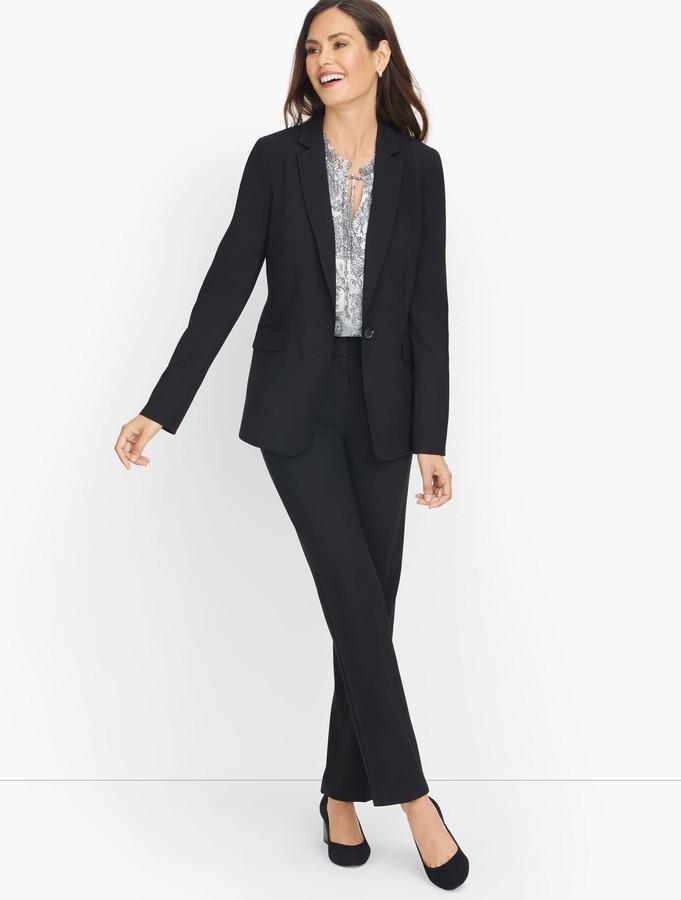 Talbots Luxe Wool Single Button Blazer - Black