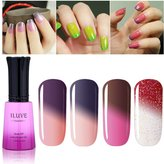 iLuve Long Lasting Soak Off Chameleon Temperature Colour Change Nail Polish with 72 Colors Choices | 4 bottle with 12ml UV Gel Polish of Color