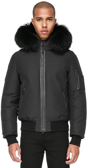 Mackage RICK BOMBER CUT JACKET WITH HOOD