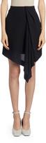 Nina Ricci Chiffon Asymmetric-Front Mini Skirt