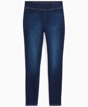 INC International Concepts Inc Plus Size Pull-On Denim Jeggings, Created for Macy's