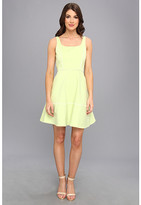 ABS by Allen Schwartz Square Neck Dress w/ Piping