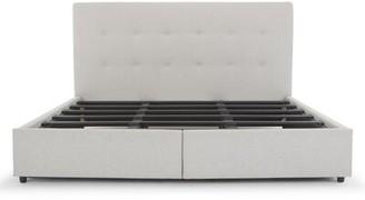 Latitude Run Breiah Tufted Upholstered Low Profile Storage Platform Bed Color: Light Gray, Size: King