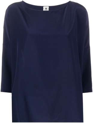 M Missoni Boat-Neck Silk Blouse