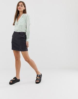 Noisy May mini denim skirt-Black