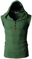 Angcoco Mens Tops Angcoco Mens Fashion Pullover Sleeveless Sweater Hoodie Shirts Tops