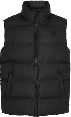 Rains Black Quilted Shell Gilet