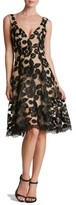 Dress the Population Women's Maya Lace Fit & Flare Dress