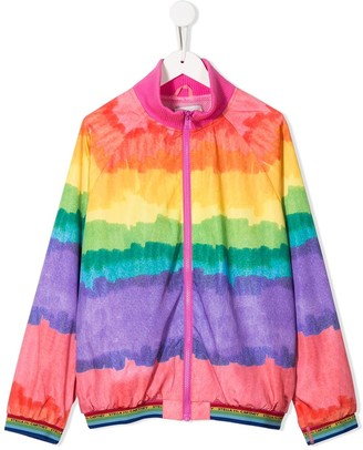 Stella McCartney TEEN rainbow bomber jacket