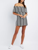 Charlotte Russe Striped Off-The-Shoulder Dress