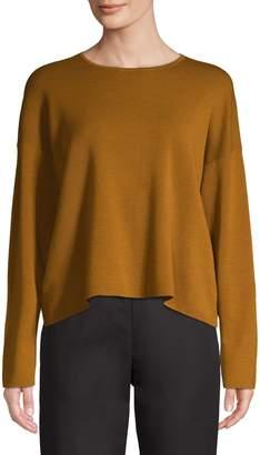 Eileen Fisher Long-Sleeve Merino Wool Sweater