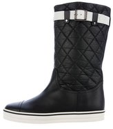 Chanel Quilted Leather CC Boots