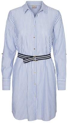 Vero Moda Cotton Striped Shirt Dress with Belt