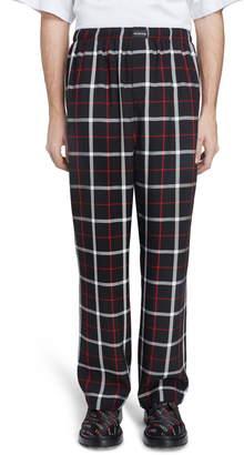 Balenciaga Check Pajama Pants