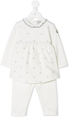 Moncler Enfant Star Embroidered Blouse And Track Pants