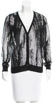 Reed Krakoff Sheer Long Sleeve Cardigan
