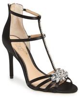 Badgley Mischka Women's Hazel Embellished T-Strap Sandal