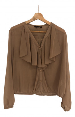 Mulberry Camel Polyester Tops