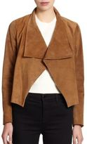 Theory Kanya Cropped Suede Jacket