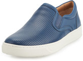 Vince Ace Perforated Leather Skate Sneaker, Navy
